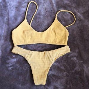 Benoa swim mustard bikini set